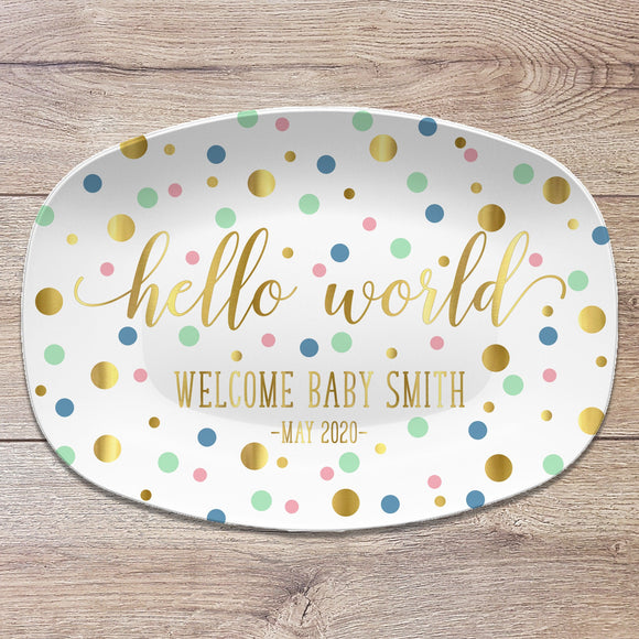 Baby Shower Personalized Platter | Gender Reveal