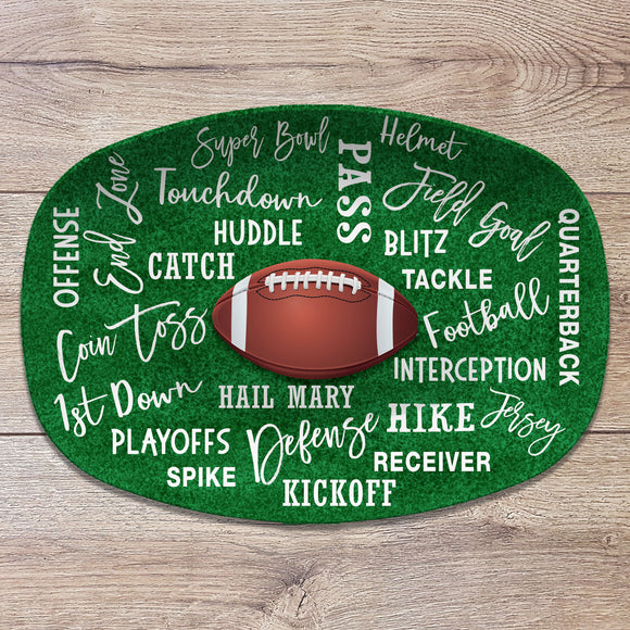 Football / Superbowl Party Personalized Platter