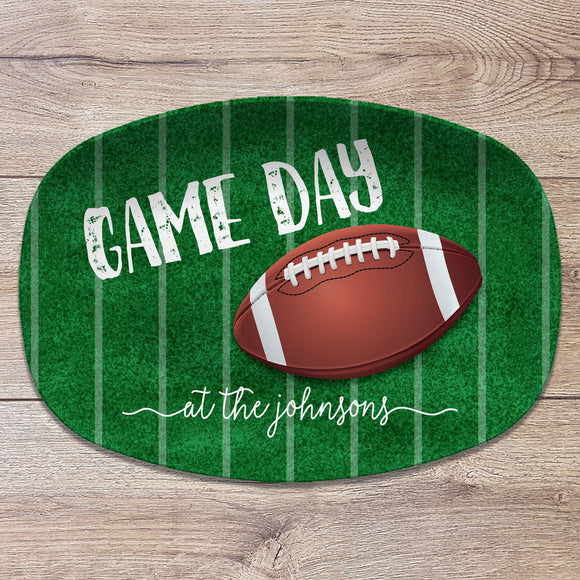 Game Day Football / Superbowl Party Personalized Platter