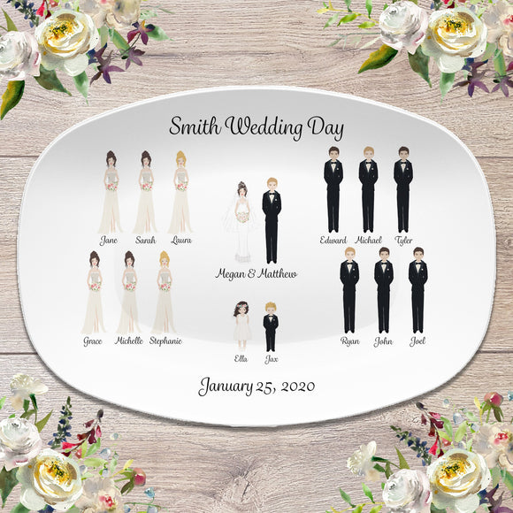 Our Wedding Day Briday Party  | Custom Personalized Platter