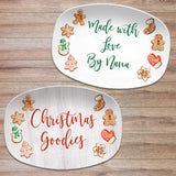 Christmas Cookie Platter • Made with Love • Custom Personalized Holiday Platter
