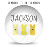 Easter Bunny Personalized Plates