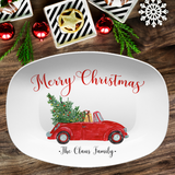 Vintage Christmas Car Personalized Platter