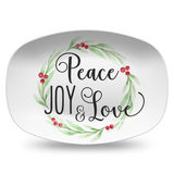 Merry Christmas / Peace Joy & Love Platter