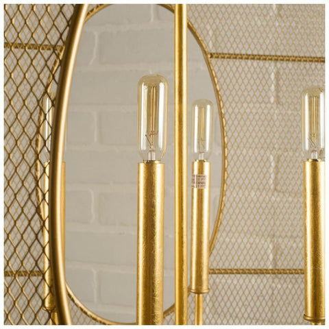 Tuva gold mesh chandelier 4 lights