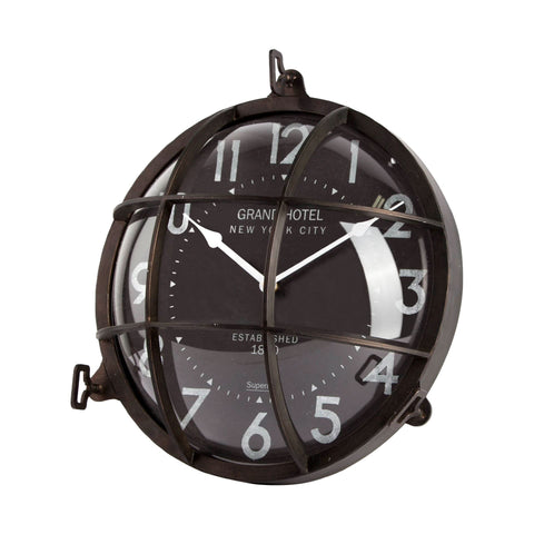 ebba hotel clock industrial black