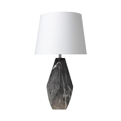Scott black marble ceramic table lamp