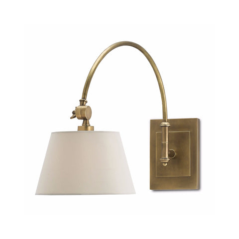 Ashland brass white sconce light