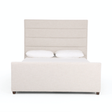 Winslow ivory linen bed