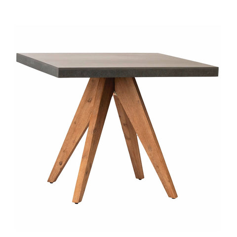 Dean cement acacia wood square bistro table