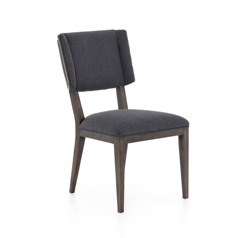 Jacobsen charcoal upholstery oak dining chair