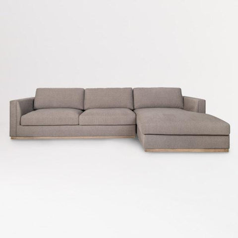 Mensa grey upholstery birch wood sectional