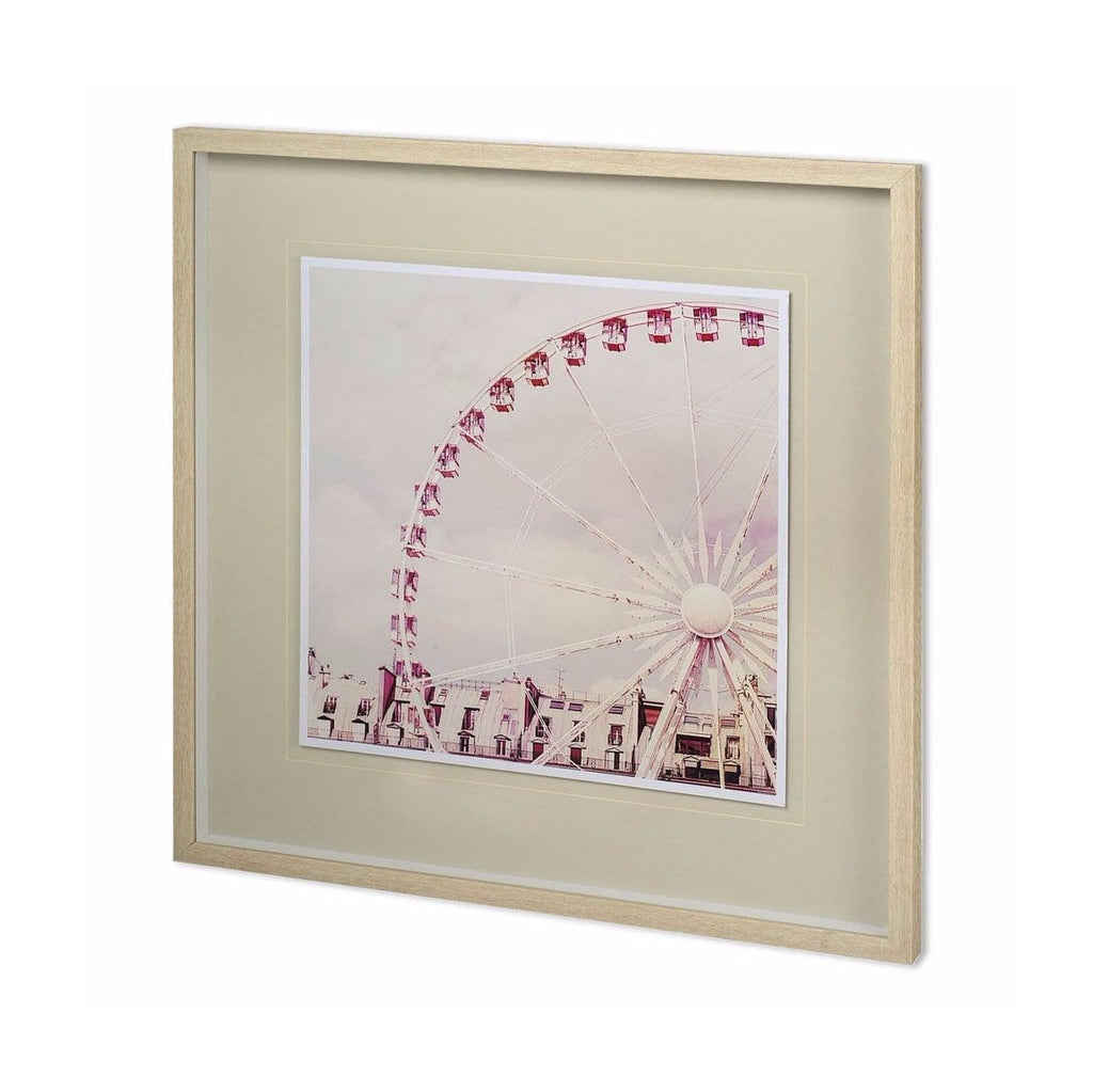 Pink ferris wheel wall art