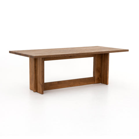 Erickson smoked oak wood dining table