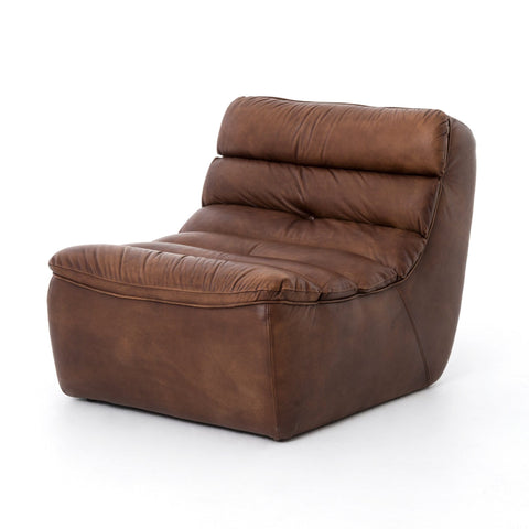 Sonoma aged brown leather chair