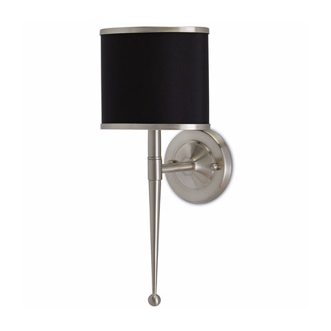 Arabella black nickel metal wall sconce light