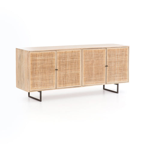 Noah light mango wood cane weave sideboard