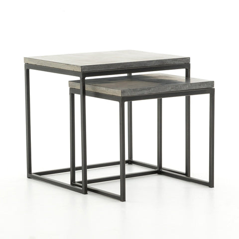 Flint bluestone nesting end tables