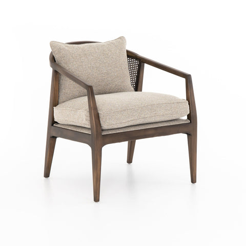 Simsbury sand upholstery birch wood accent chair