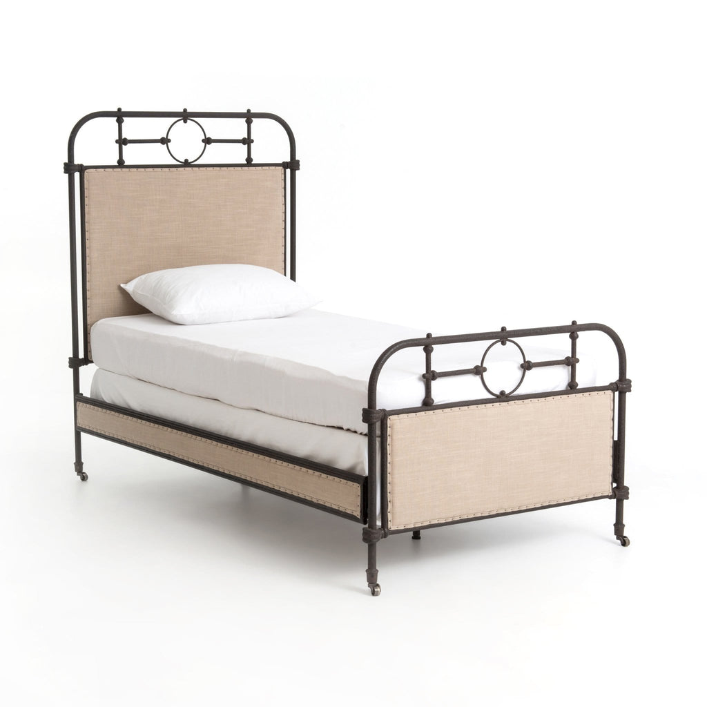 Barnett Iron Bed Twin Angled Frontview