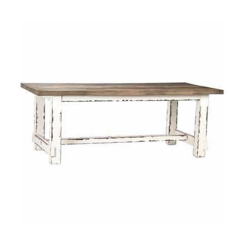 Compton Dining Table wood room white brown