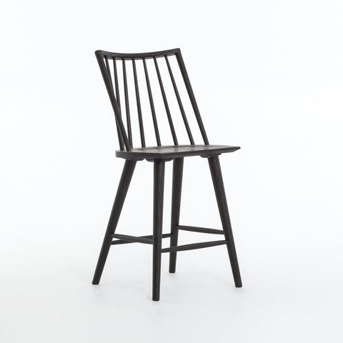 Clarkson black oak wood counter stool