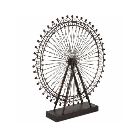 Thames Wheel metal decorative object small