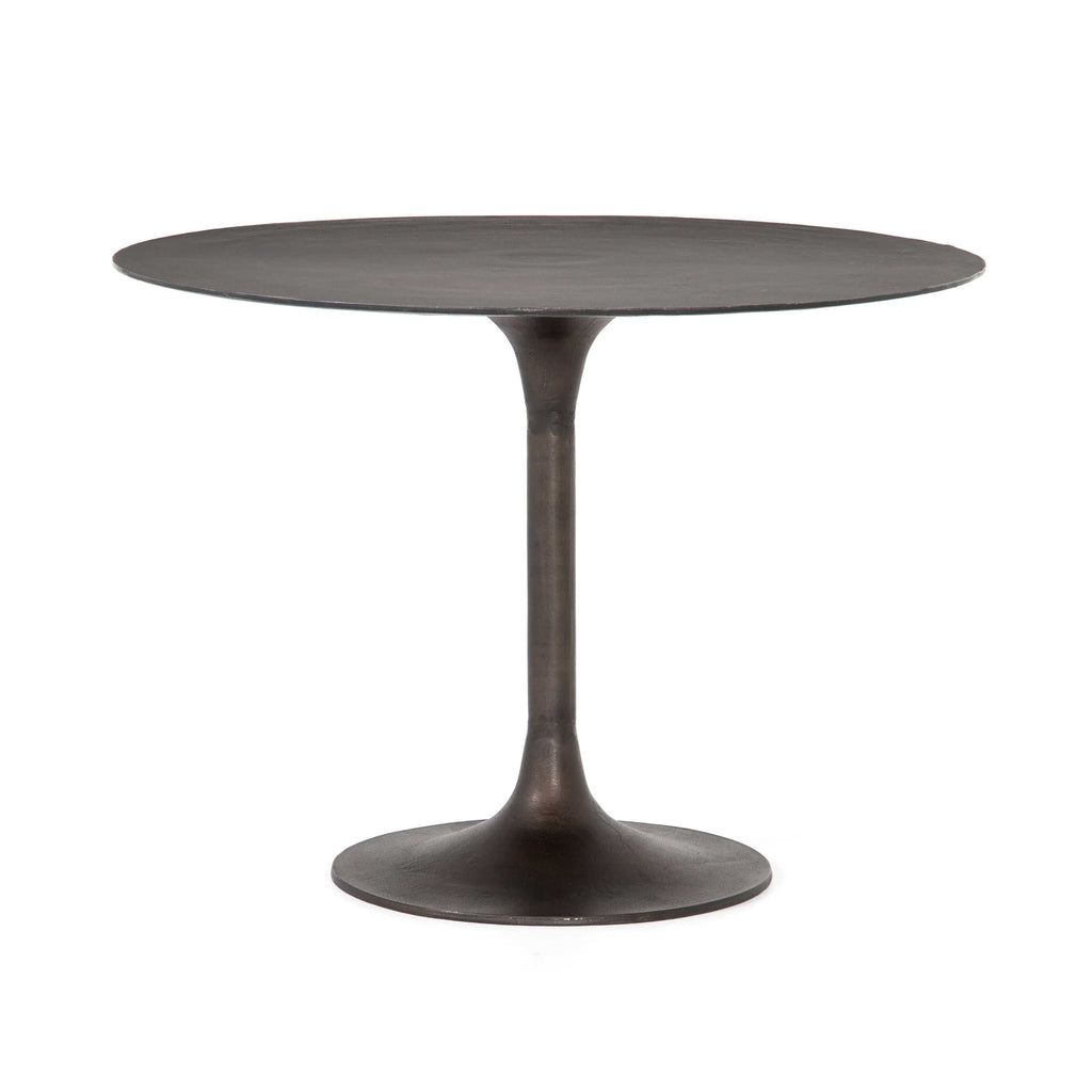 Anna bronze aluminum round bistro dining table 42""