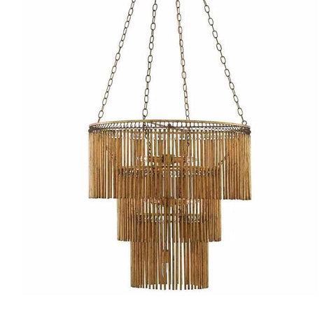 Monet gold leaf metal chandelier