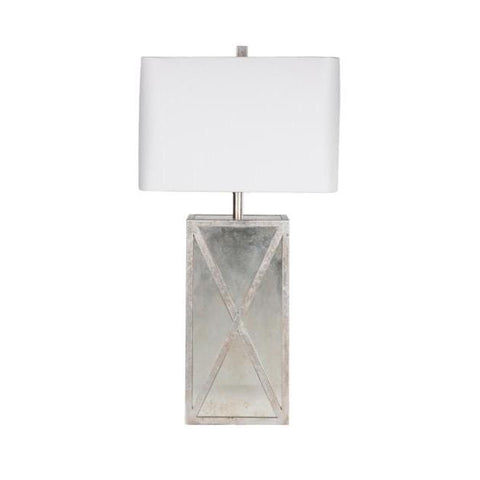Clarissa antique glass pewter table lamp