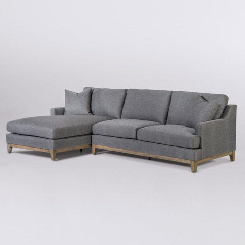 Troy grey slate upholstery birch wood sectional