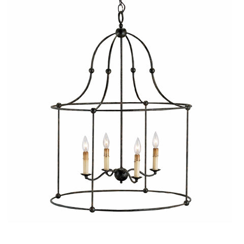 Farwell black iron metal chandelier