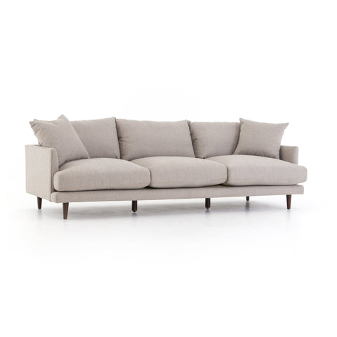 Andor pewter grey upholstered sofa