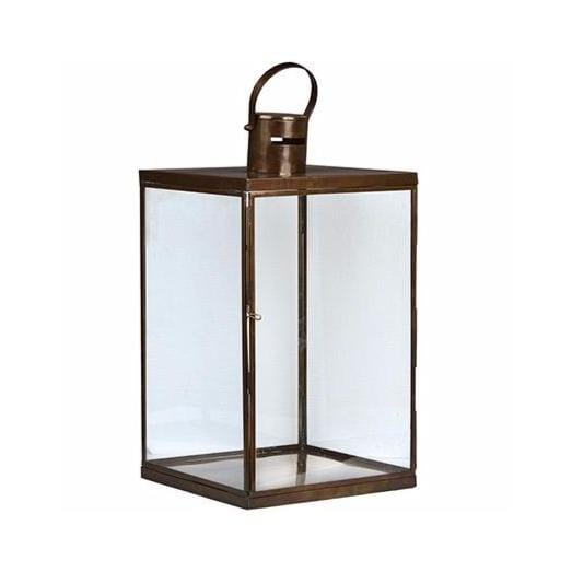 large brass glass lantern