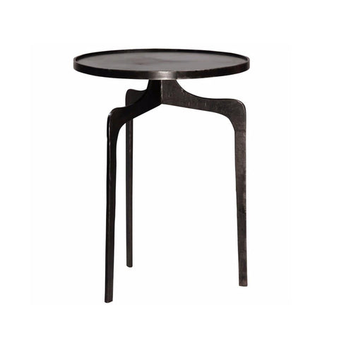 Fitch gunmetal iron tripod end table