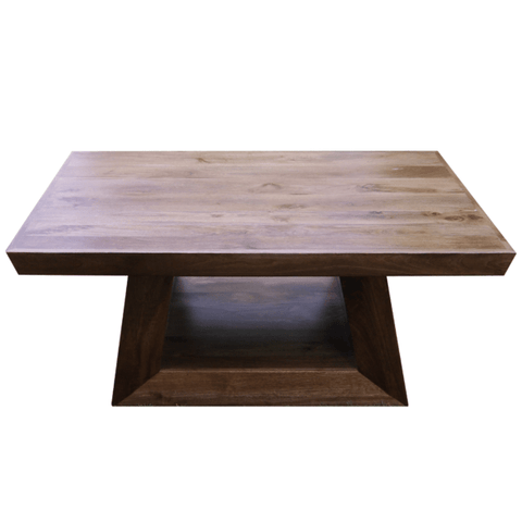 Mark brown mango wood coffee table