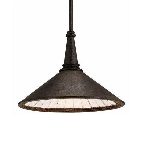 Belfast black iron rustic pendant light