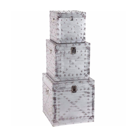 Industrial Boxes metal storage grey