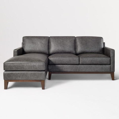 Bradford charcoal leather sectional