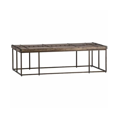 Dycott Coffee Table reclaimed wood metal living room