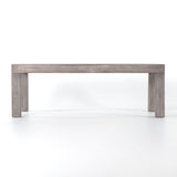 Maddox grey teak outdoor dining table