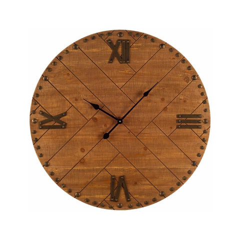Culpo Clock wood metal brown wall