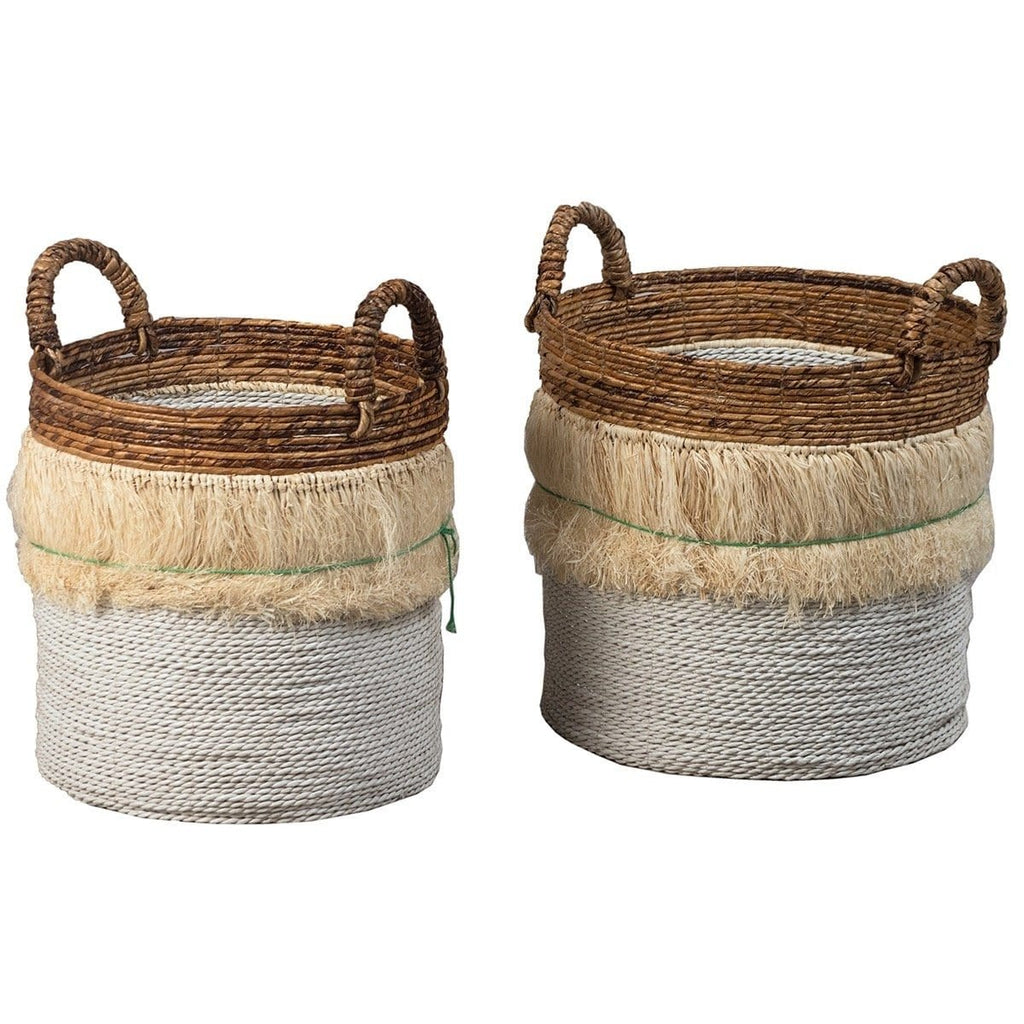 set of 2 boho baskets