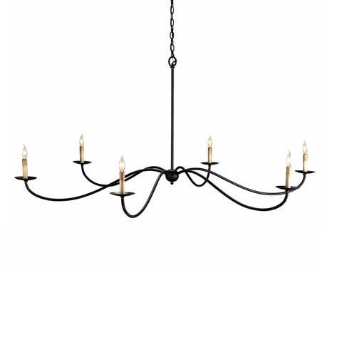 Sadie black iron chandelier room view