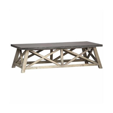 Delma Coffee Table brown grey concrete wood living room