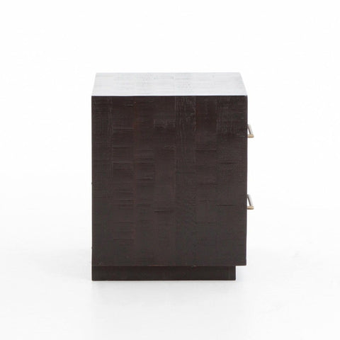 Stark black acacia wood brass nightstand