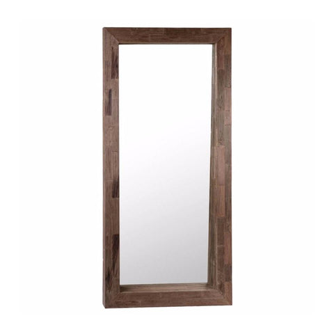 Amos Floor Mirror brown reclaimed wood frame