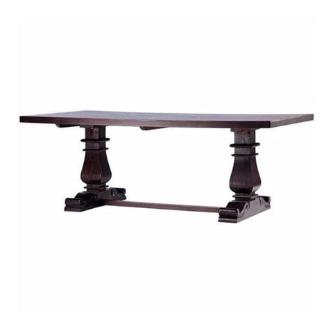 Midhurst Dining Table indian wood pecan brown