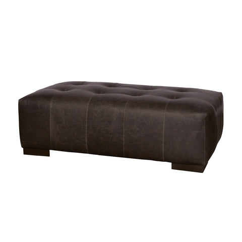 Arnold custom tufted leather upholstery bench