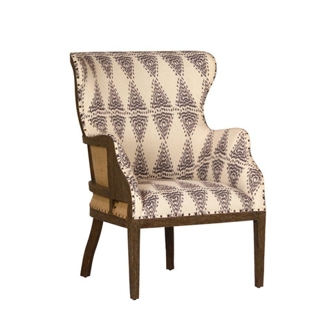 Keda ivory polyester jute chair